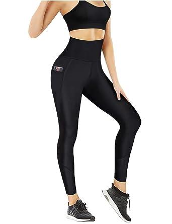 4869c2c22f01a Amazon.com: Nebility Women Workout Capri Leggings High Waist Sports Tights  Tummy Control Slim Skinny Pants: Clothing