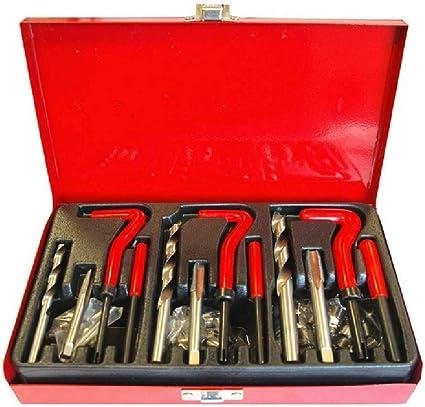 Kit riparazione strumento filettatura,88 pezzi Filettatura Kit di riparazione punta per trapano M6 M8 M10 Inserti filettati