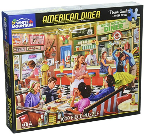 (White Mountain Puzzles American Diner Designer: Steve Crisp Puzzles (1000Piece))