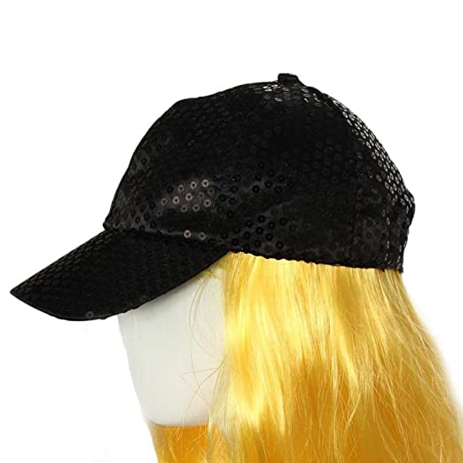 BCDshop Sequin Baseball Cap Women Men Fashion Outdoor Street Shopping Cap  Hat (Black) e27f591fc