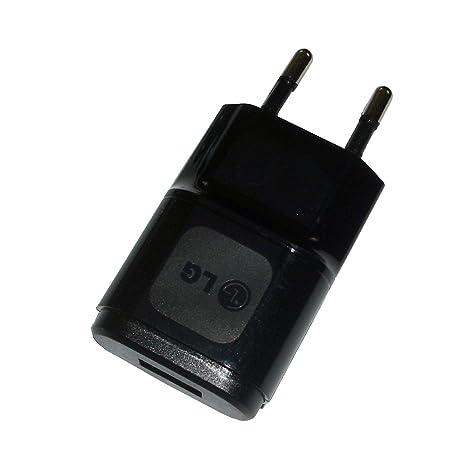 cargador de Red LG MCS-01ER , 1,2 A, Color negro con cable de carga Micro-USB