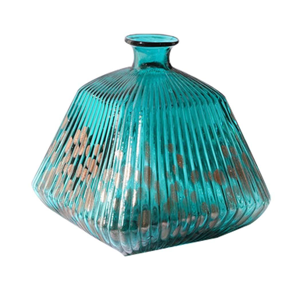 MAHONGQING 北欧クリスタルガラス透明花瓶ドライフラワーアレンジメントフラワーシンプルデコレーション飾りデコレーション B07SYYQ76Y