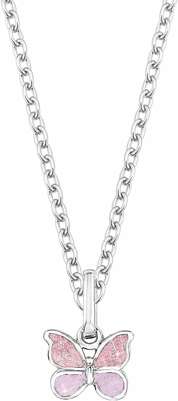 Prinzessin Lillifee Kinder-Kette mit Anh/änger Schmetterling 925 Silber rhodiniert Emaille 523011