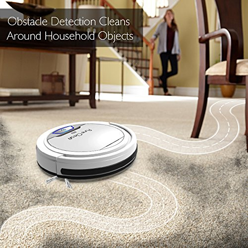 PureClean Automatic Robot Vacuum Cleaner - Upgraded HEPA Filter Pet Hair Allergies Friendly Robotic Auto Home Cleaning for Clean Carpet Hardwood Floor - Bot Self Detects Stairs - PUCRC25 V2 by Pure Clean (Image #4)