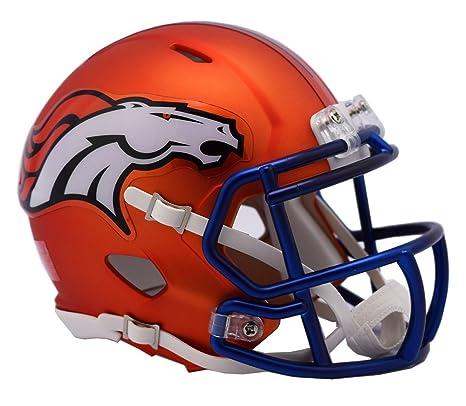 92e8439e84f Amazon.com   NFL Denver Broncos Alternate Blaze Speed Mini Helmet   Sports    Outdoors