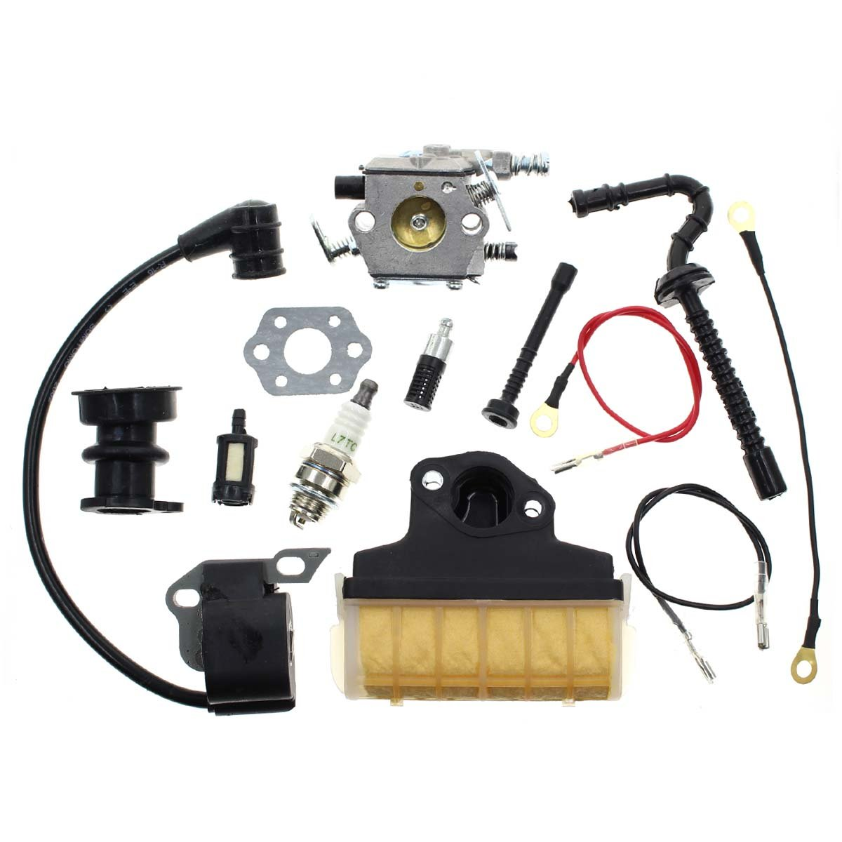 Carbhub Carburetor for Stihl 021 023 025 MS210 MS230 MS250 Chainsaw Carb with 1123 160 1650 Air Filter Ignition Coil Fuel Line Tune Up Kit Replace Walbro WT286 by Carbhub