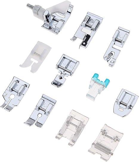 Iycorish Traje De 11 Piezas Máquina De Coser Casera Multifuncional Conjunto De Accesorios De Máquina De Coser De Prensatelas: Amazon.es: Hogar