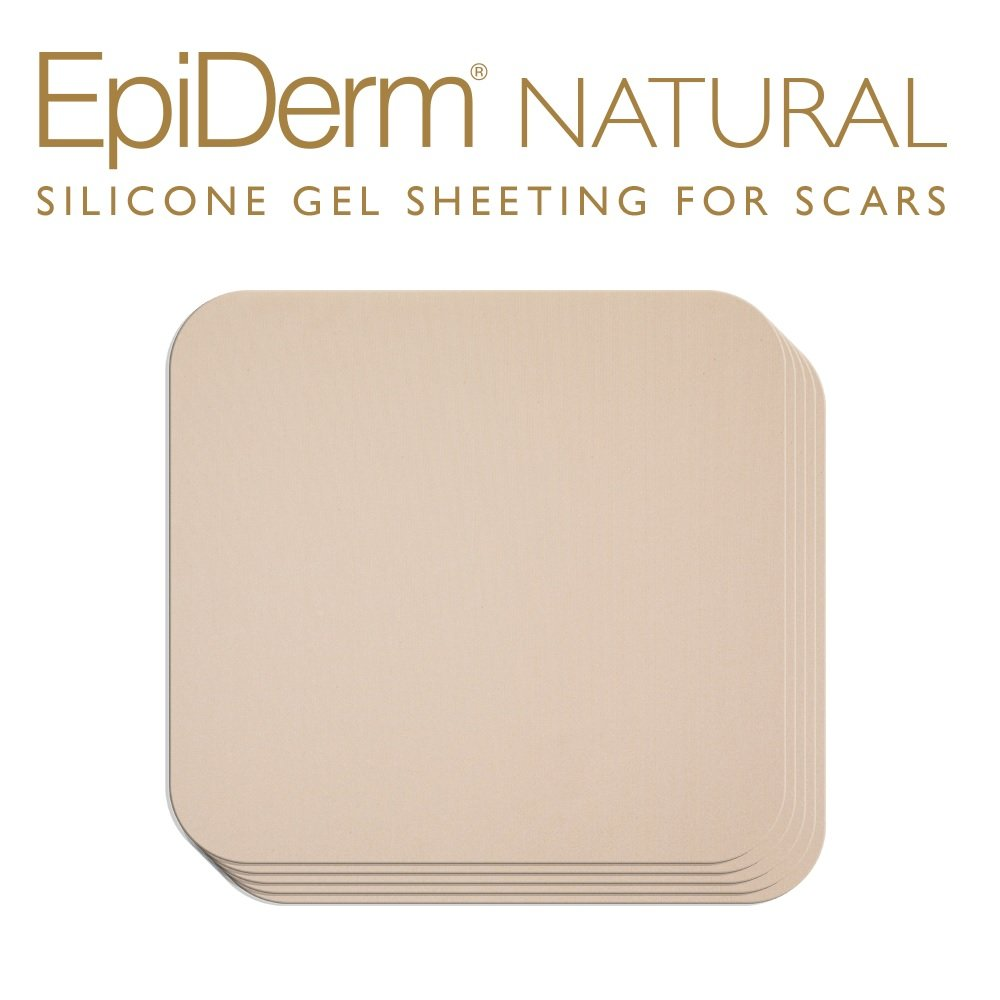 Epi-derm Standard Sheet - 4.7 x 5.7 in - (5 Pack) (Natural) Silicone Scar Sheets from Biodermis