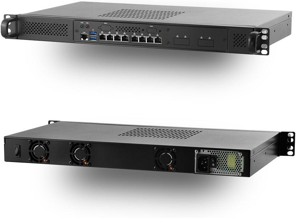 Jetway JBC153F592-Q170-B Intel Core Q170 Mini 1U Rackmount w/ 8 x Intel LAN Port