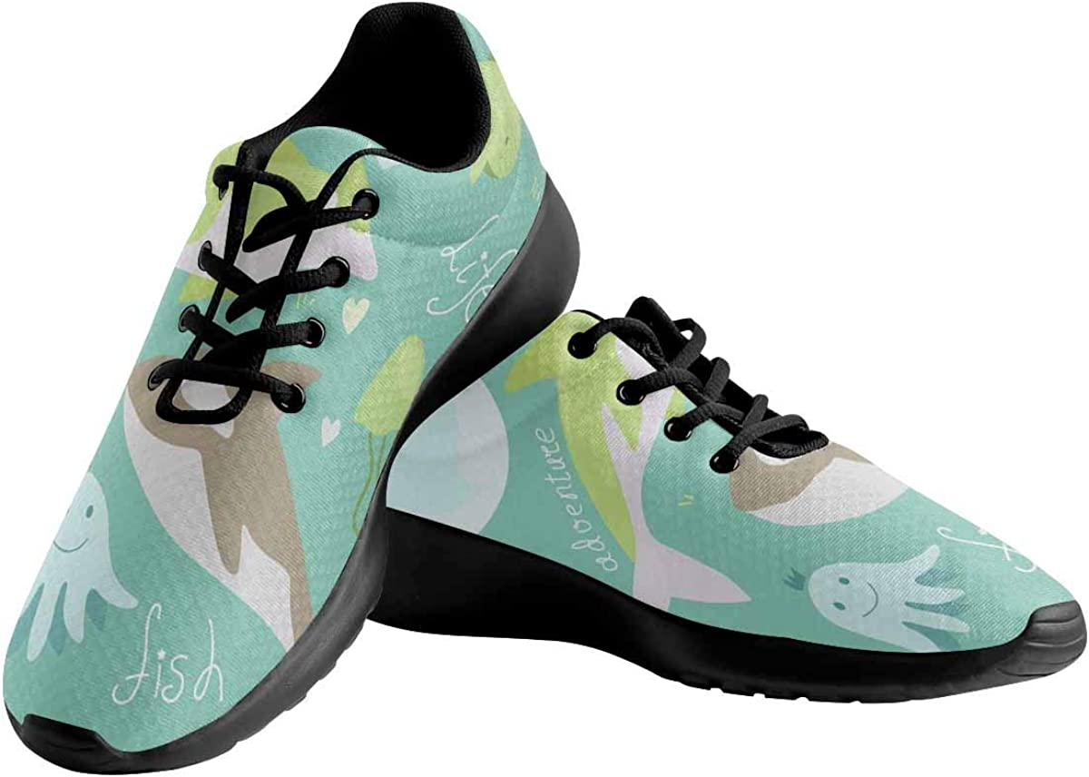 Sea Stars Womens Running Sport Shoes Breathable Lightweight Athletic Shoes Whale Jellyfish INTERESTPRINT Dolphin