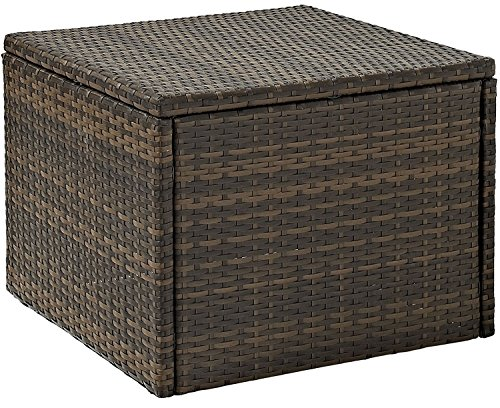 Crosley CO7202-BR Palm Harbor Outdoor Wicker Coffee Sectional Table, Brown