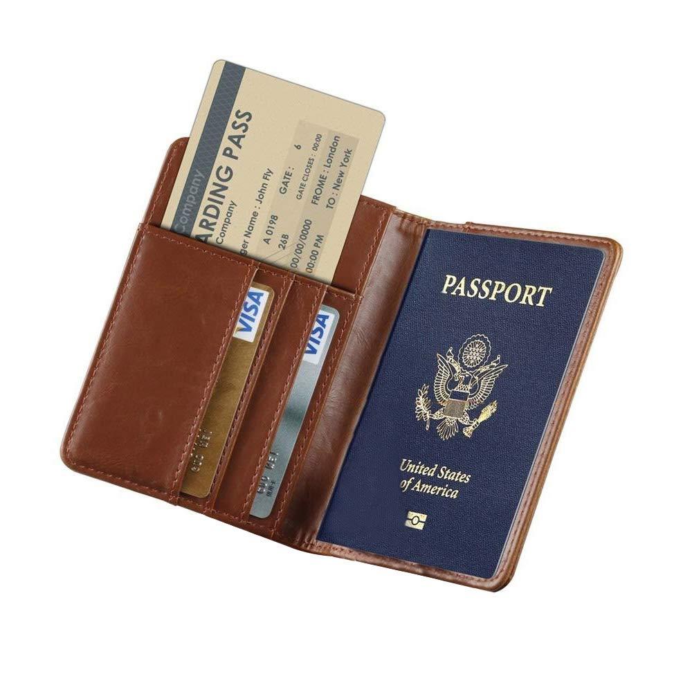 RFID Blocking Travel Passport Holder KATUMO Slim ID Card Ticket Passport Cover (Galaxy)
