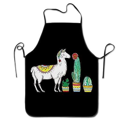 PINTURA de llama, Cactus casa cocina Delantal barbacoa cocina cocina babero Delantal para las mujeres