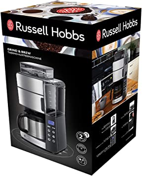Russell Hobbs Grind & Brew - Cafetera de goteo (jarra de vidrio ...