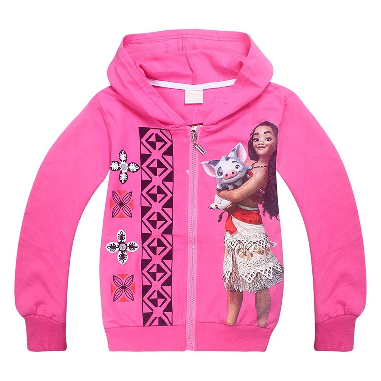 WNQY Girls Zip Hoodie Trolls Sweatshirt Children Coat Cartoon Jacket Outwear