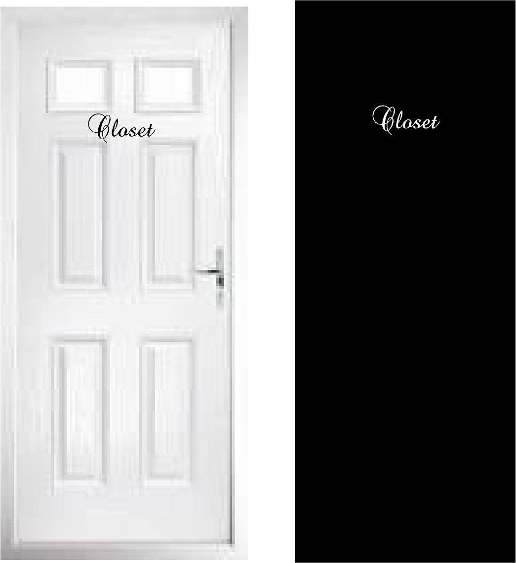 Walls with Style Door Decals Pantry, La Cuisine, Les Toilettes, Powder Room, Custom Decals for Childs Door Stickers, Closet (Black)