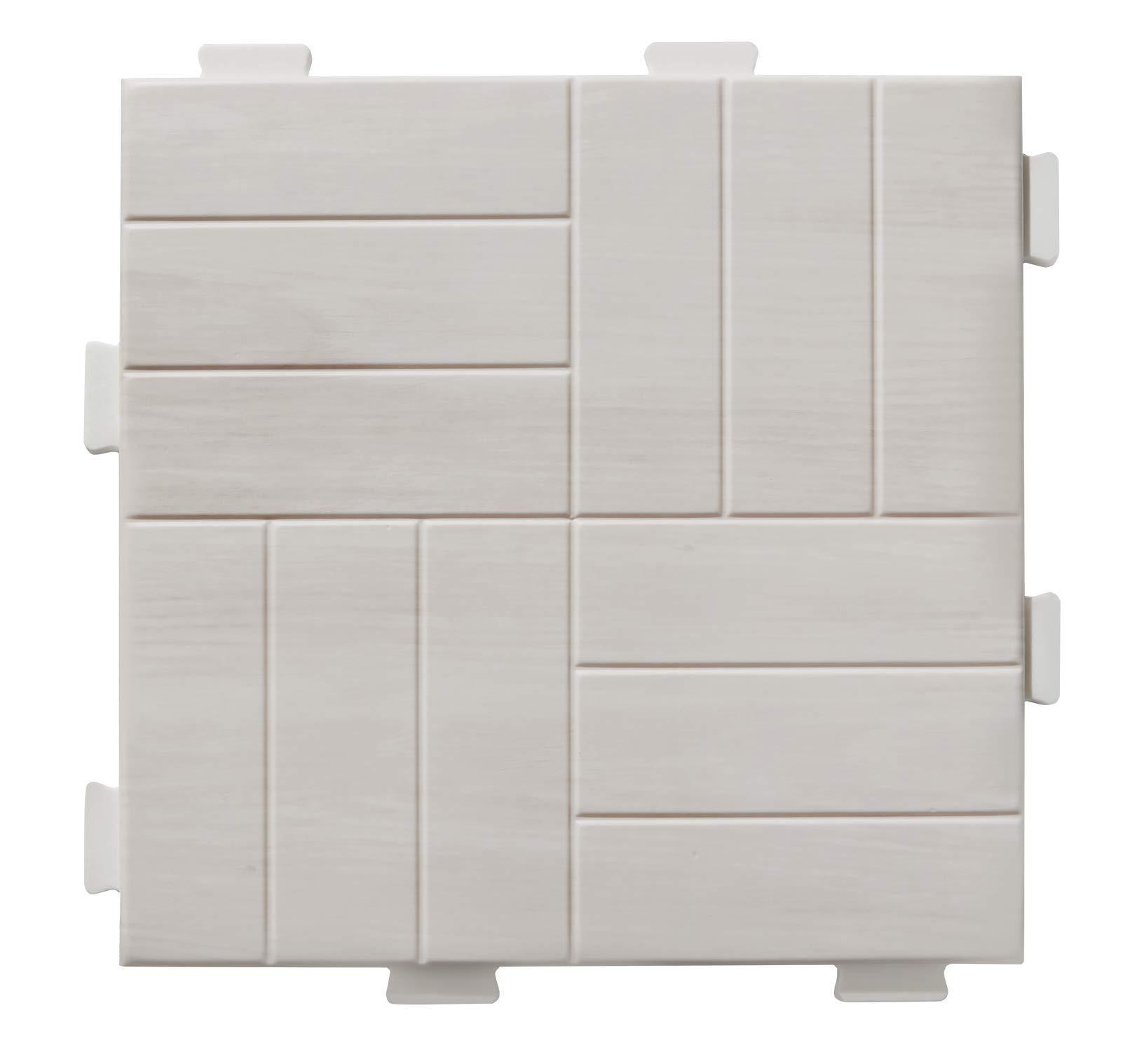 [Alzip Mat] TPU Puzzle mat (Non-Toxic, Non-Slip, Waterproof) (Maple Wood)