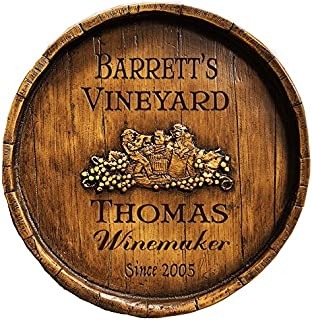 product image for Piazza Pisano Wine Makers Wine Barrel Personalized Sign