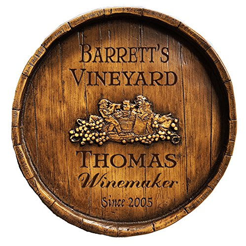 (Piazza Pisano Wine Makers Wine Barrel Personalized Sign)
