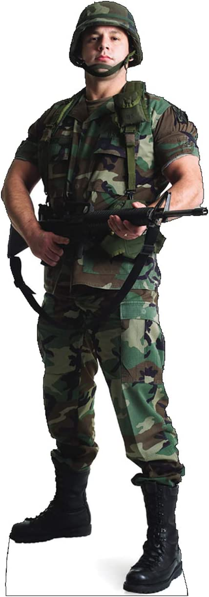Cardboard People Army Soldier Life Size Cardboard Cutout Standup