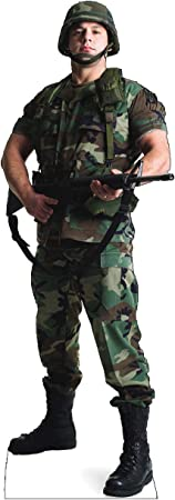 Cardboard People Army Soldier Life Size Cardboard Cutout Standup Home Kitchen