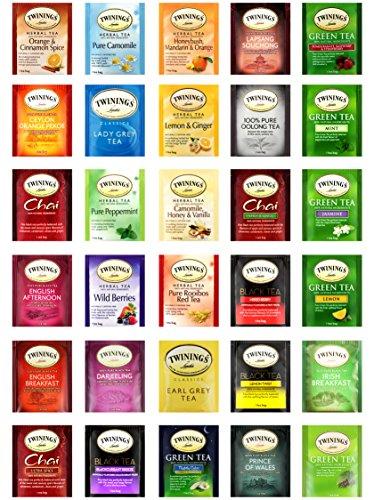 Twinings Tea Variety Premium Sampler, Includes a Mixture of Green, Herbal, Black and Chai Teas (90 - Beverage Napkin Raspberry