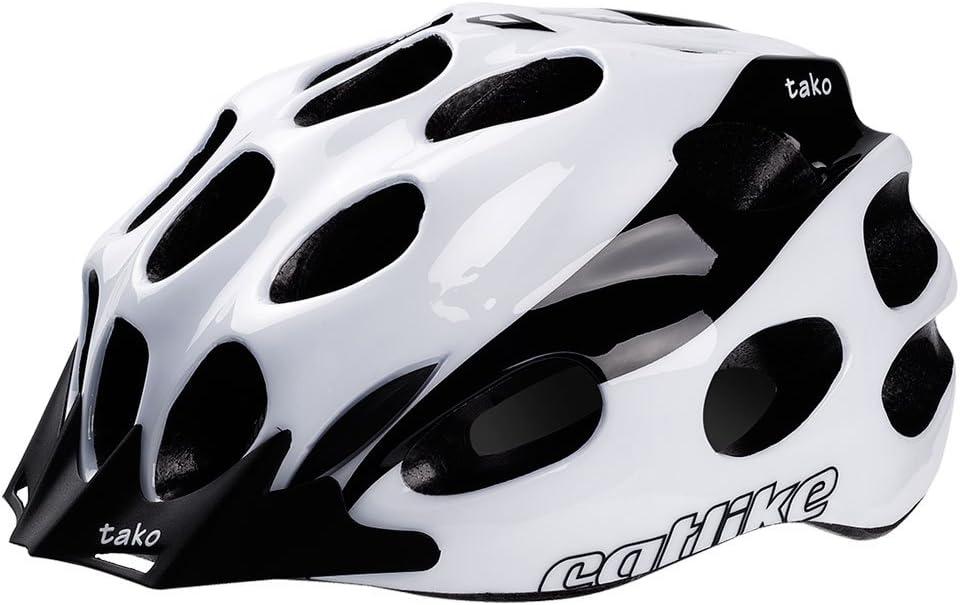 Catlike Tako Casco Ciclismo, Unisex Adulto, Blanco/Negro Brillo ...