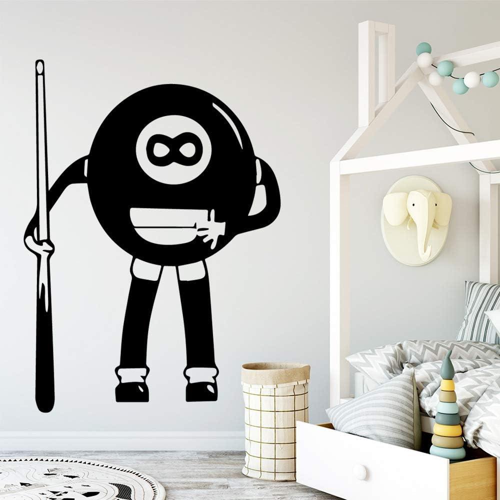 YuanMinglu Diversión Mesa de Billar Apliques de Arte de Pared Adhesivo de Pared Material de PVC refrigerador Pegatina calcomanía Pegatina Creativa Negro L 43cm X 59cm: Amazon.es: Hogar