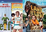 Will Ferrell Comedy Collection - Land of the Lost & Elf / Semi-Pro Double Feature 3-Movie Bundle