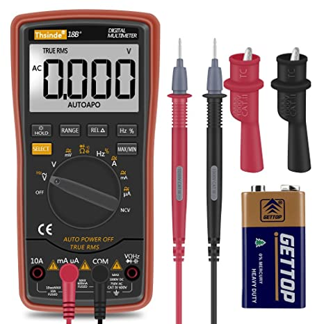 auto ranging digital multimeter trms 6000 with battery alligator rh amazon com