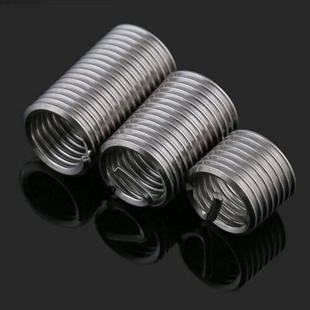 30Pcs, M61.03D M6 M8 M10 M12 M14 Helicoil Thread Repair Insert Coil A2 304 Stainless Steel