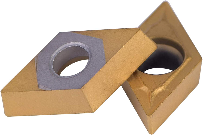 Pusokei 10 St/ück f/ür Diamantform CNC-Hartmetalleinsatz Fr/äser Wendeschneidwerkzeuge Drehwerkzeuge mit Box f/ür Stahl DCMT11T304-HM YBC251