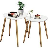 FurnitureR Juego de 2 Mesas auxiliares Triangulares Mesita Auxiliar Mesa de Centro Mesita Auxiliar Minimalista Moderna…