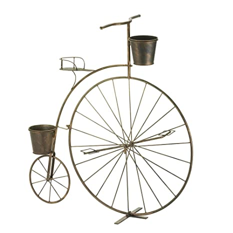 OLD FASHIONED BICYCLE PLANT STAND PLANTER DISPLAY GARDEN DECOR
