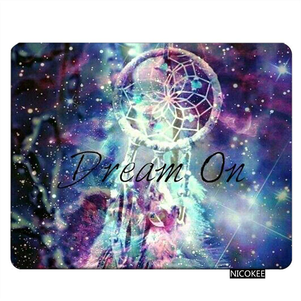 Nicokee Universe Gaming Mousepad Galaxy Nebula Universe Dream Catcher Mouse Pad Rectangle Mouse Mat for Computer Desk Laptop Office 9.5 X 7.9 Inch Non-Slip Rubber