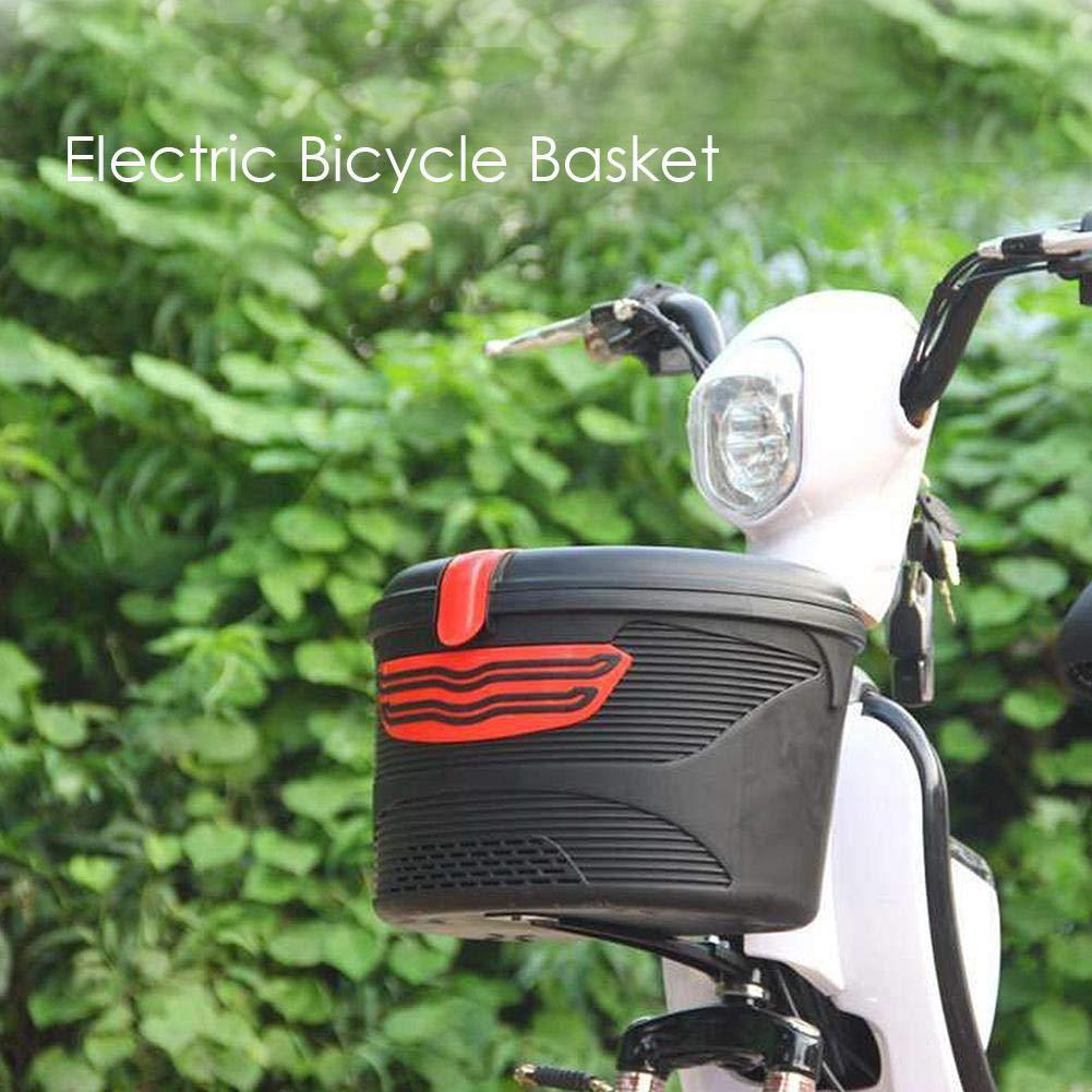 Beimaji Trade Cestino della Bicicletta Cesto Anteriore della Bici Mountain Bike Elettrico Cestino Appeso in plastica Cestino per Biciclette Resistente allAcqua
