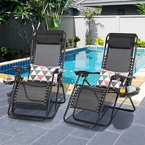 Shintenchi Patio Zero Gravity Recliner Lounge Chair