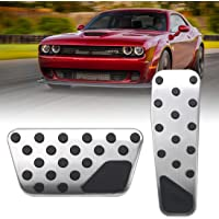 FEIPARTS Non Slip Performance Foot Pedal Pads Auto Aluminum Pedal Covers fit for AUDI A4 S4 A5 A6 Q5 S5 A7 15 16 17 18 19