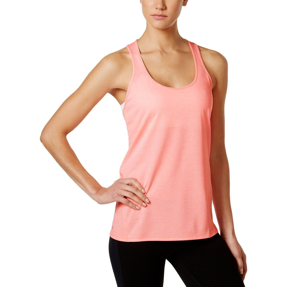 Ideology Womens Yoga Fitnesss Tank Top Pink M