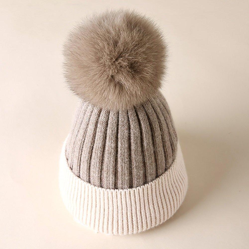 QFFL xiajibaidamaozi Sombrero hecho punto mujeres Sombrero caliente animoso hinchable de la caída / del invierno al aire libre / escalada / esquí / sombrero caliente del ciclo 4 colores están disponib shishangmaoyanqijiandian