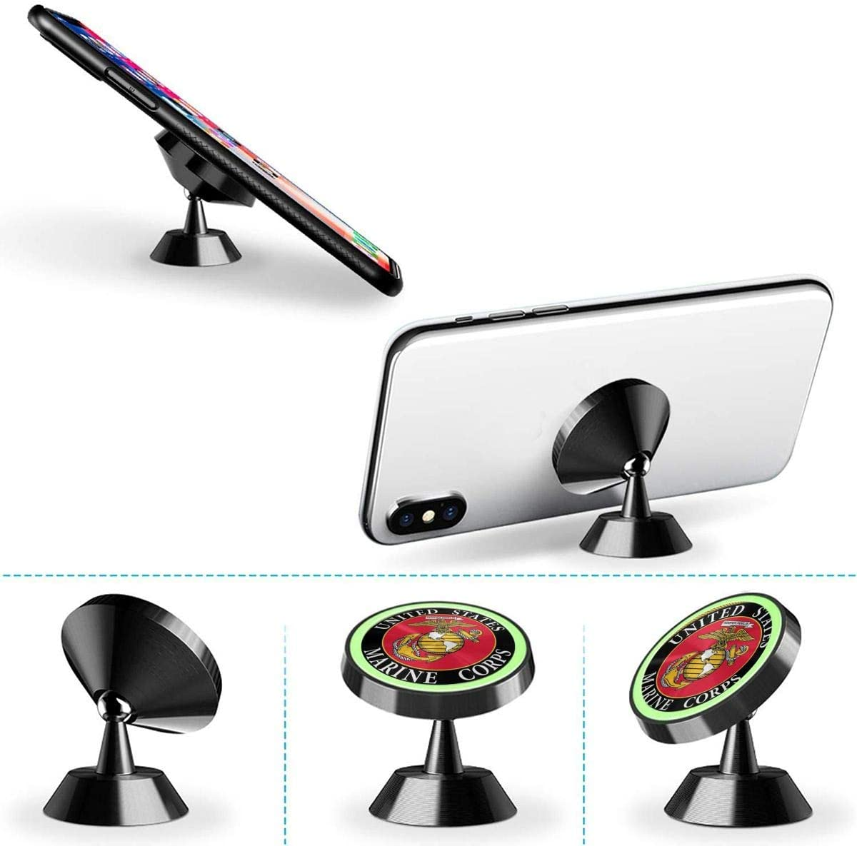 Magnetic Phone Car Mount The Nightmare Before Christmas Universal Rotation 360/° Car Phone Mount Dashboard Metal Magnetic Holder Compatible with GPS iPhone Samsung Most Smartphones
