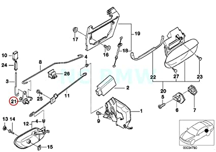 Amazon Com Bmw Genuine Deflection Lever Automotive