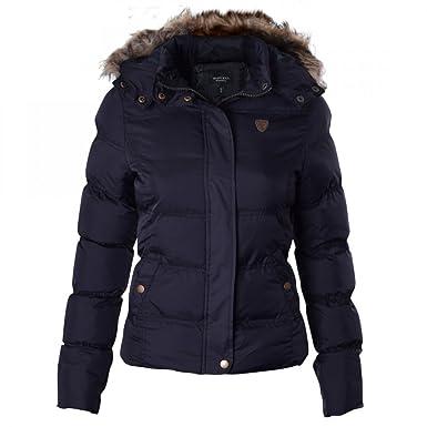 44b55e6d52c0e Ladies Brave Soul Designer Jacket Quilted Puffer Padded Coat: Amazon.co.uk:  Clothing