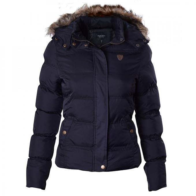 902662bb7cb64 Ladies Brave Soul Designer Jacket Quilted Puffer Padded Coat  Amazon.co.uk   Clothing