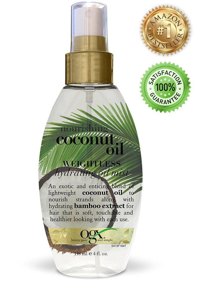 Aceite de Coco Para El Cabello Tratamiento Natural Fortalece Hidrata y Suaviza El Pelo Para Pelo
