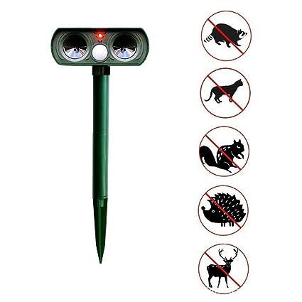 Animales Ahuyentar Mosquito Asesino Al Aire Libre Solar Ultrasonido Jardín Gato Perro Fox Ciervo Ratones Zorro