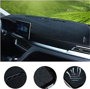 SureKit Car Custom Dash Cover for Chevrolet Chevy Trax 2014-2016 2017 Auto Dashboard Pad DashMat Dash Board Cover (Black line)