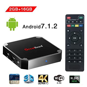 X96 Mini Smart TV Box Android 7.1, Wingogo 2 GB 16 GB Amlogic Quad Core 2.4 GHz WiFi 4 K Set Set Top Inteligente: Amazon.es: Electrónica