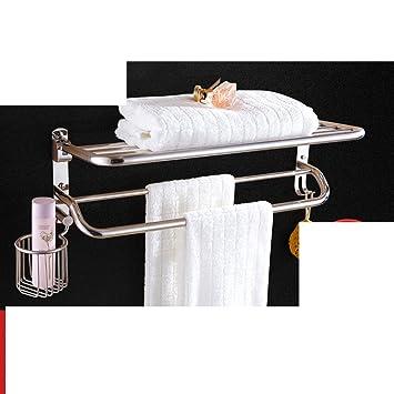 Soporte para secador de pelo, Estante de toalla del acero inoxidable Estantes de baño blower canasta toalla estante plegable-N: Amazon.es: Bricolaje y ...