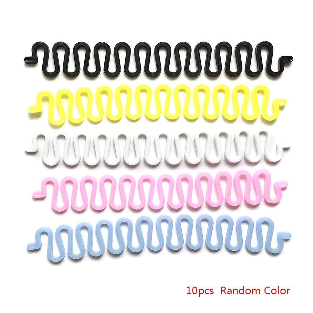 Centipede capelli della forma Braider clip di French Twist Plait Saluto intrecciare i capelli Strumento Holder colore casuale Mengonee
